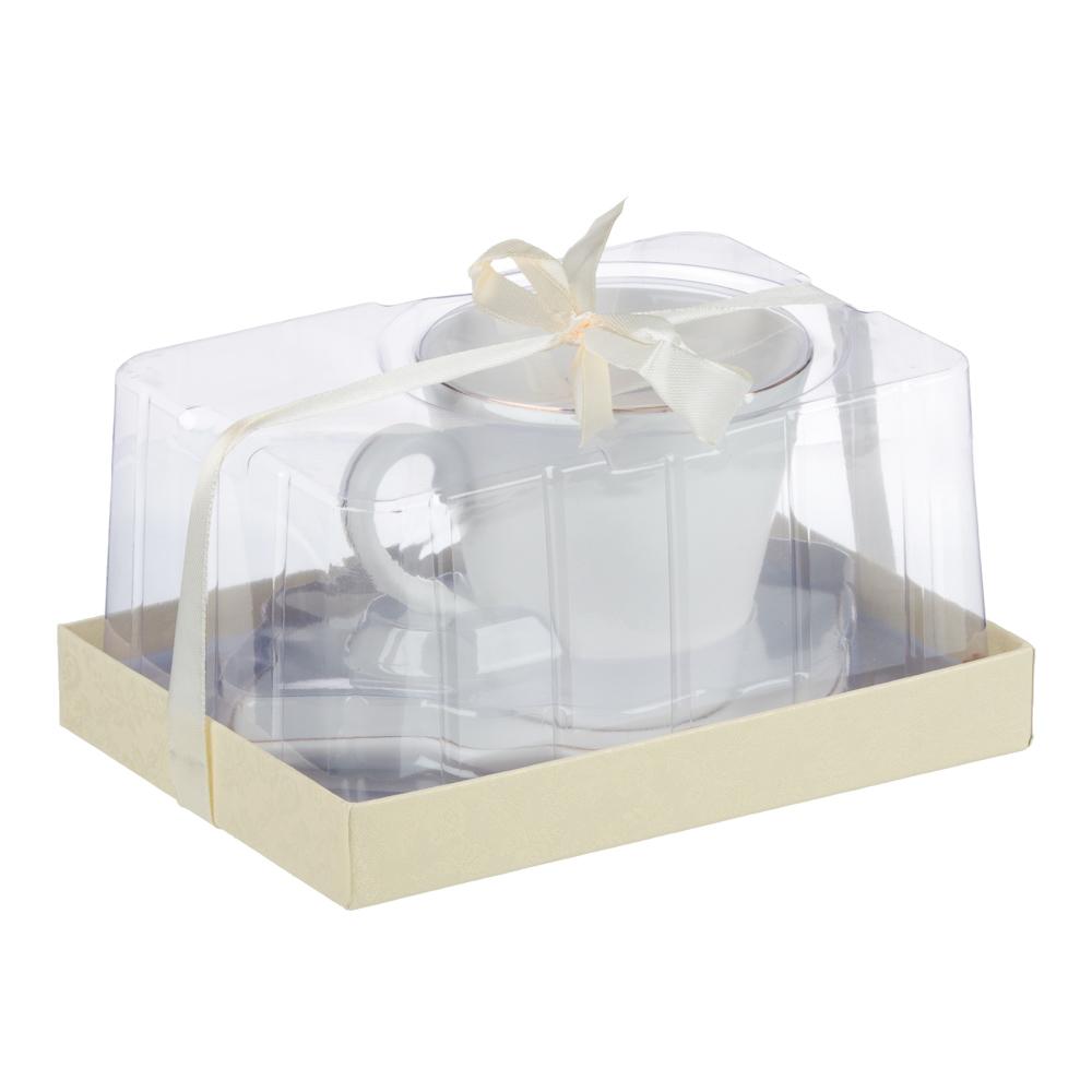 MILLIMI Лист блэк&вайт Набор чайный 2 пр., 220мл, 16x11,5см, костяной фарфор, 2 цвета - 5
