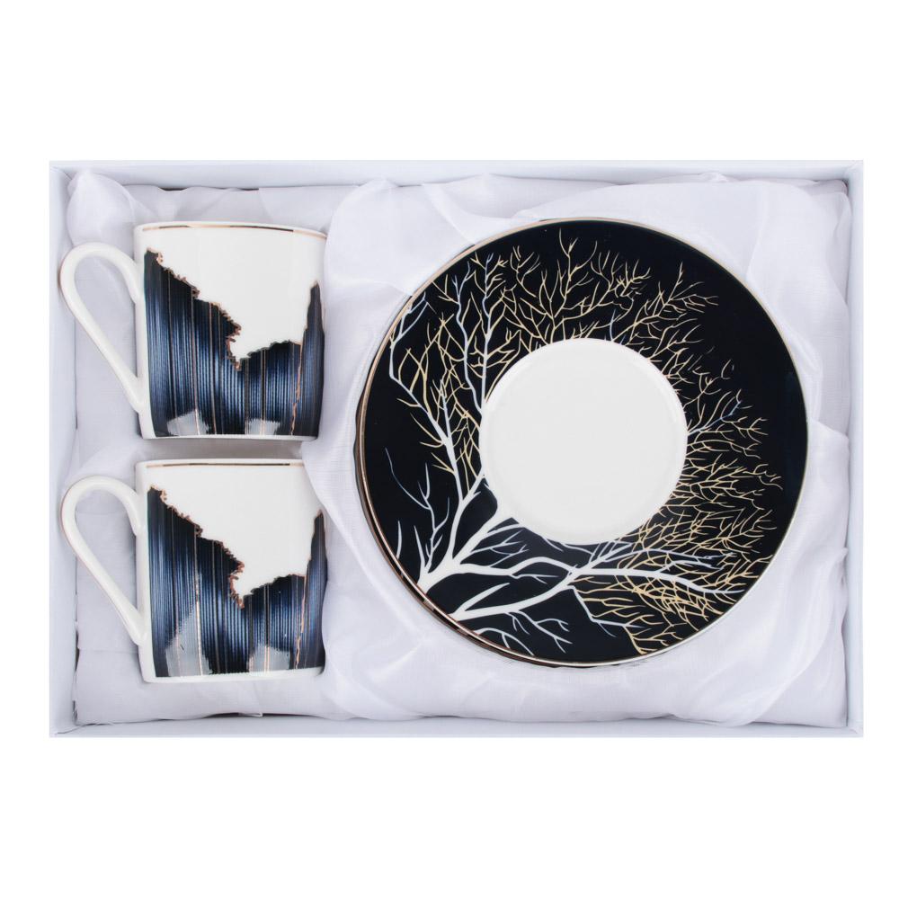 MILLIMI Триумф Набор кофейный 4пр., 100мл, 12,5см, костяной фарфор - 4