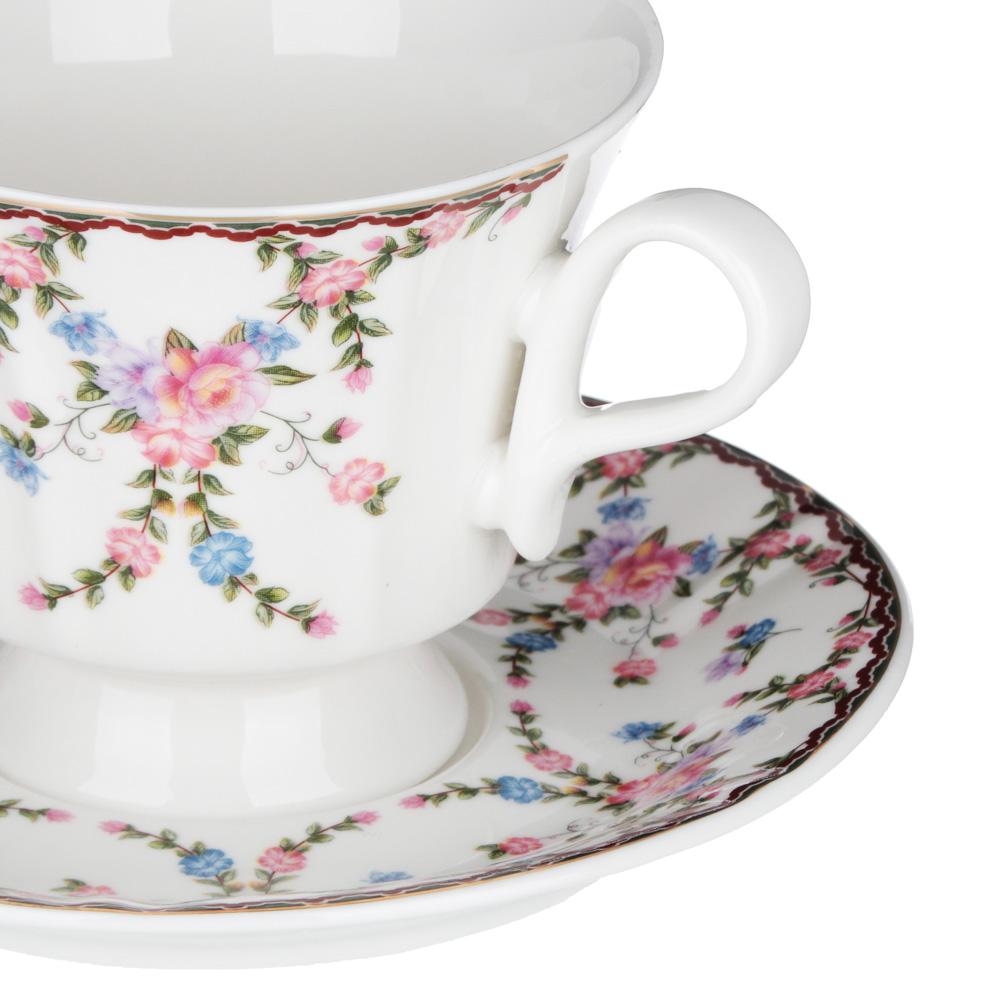 MILLIMI Роза Набор чайный 12 пр., 220мл, 15см, костяной фарфор - 2