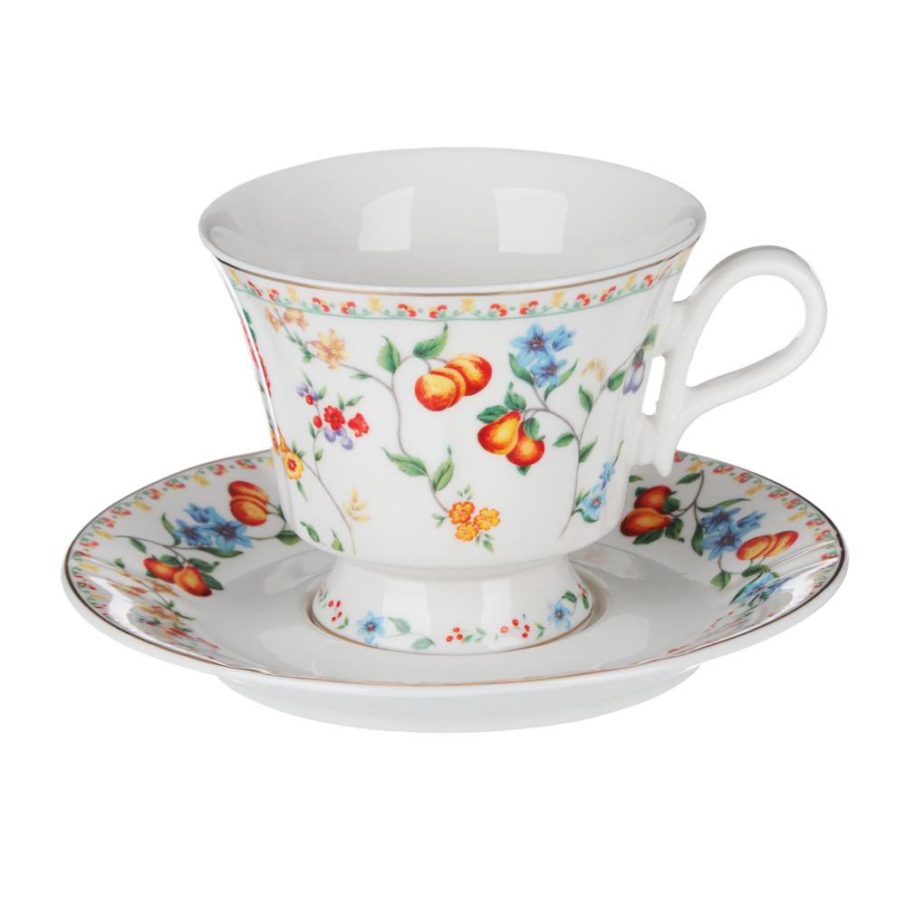MILLIMI Розовая весна Набор чайный 2 пр., 220мл, 15см, костяной фарфор, 2 дизайна - 2
