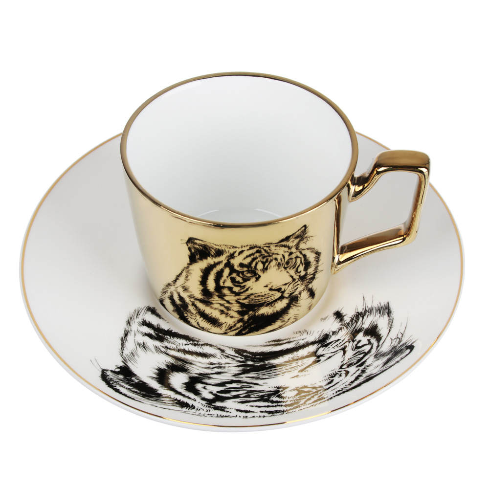 MILLIMI Тигр Набор чайный 2 пр., 260мл, 17см, костяной фарфор, 2 цвета - 2