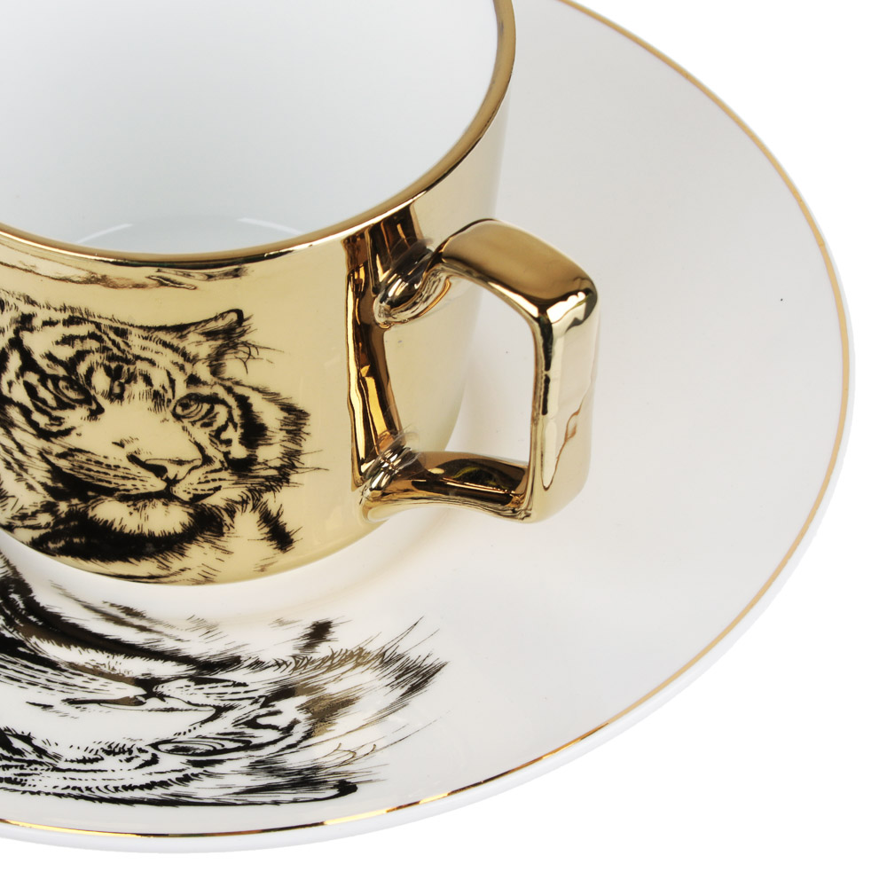 MILLIMI Тигр Набор чайный 2 пр., 260мл, 17см, костяной фарфор, 2 цвета - 3