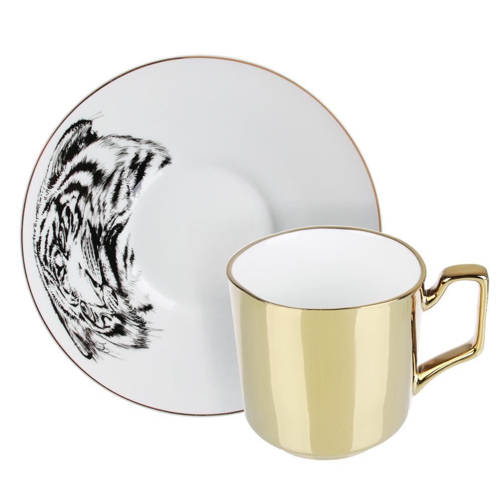 MILLIMI Тигр Набор чайный 2 пр., 260мл, 17см, костяной фарфор, 2 цвета - 4