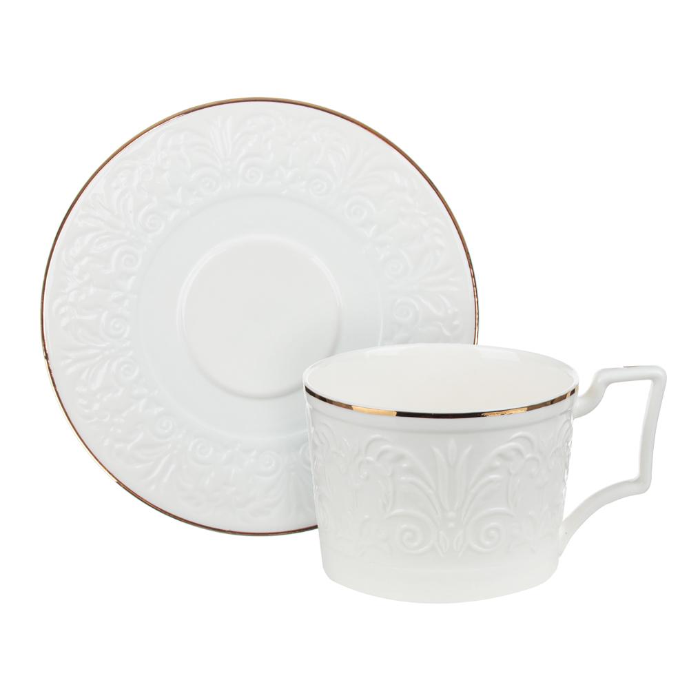 MILLIMI Да Винчи Набор чайный 14 пр., чашка 270мл, 15см, чайник 1050мл, сахарница 300мл, кост. фрф - 2