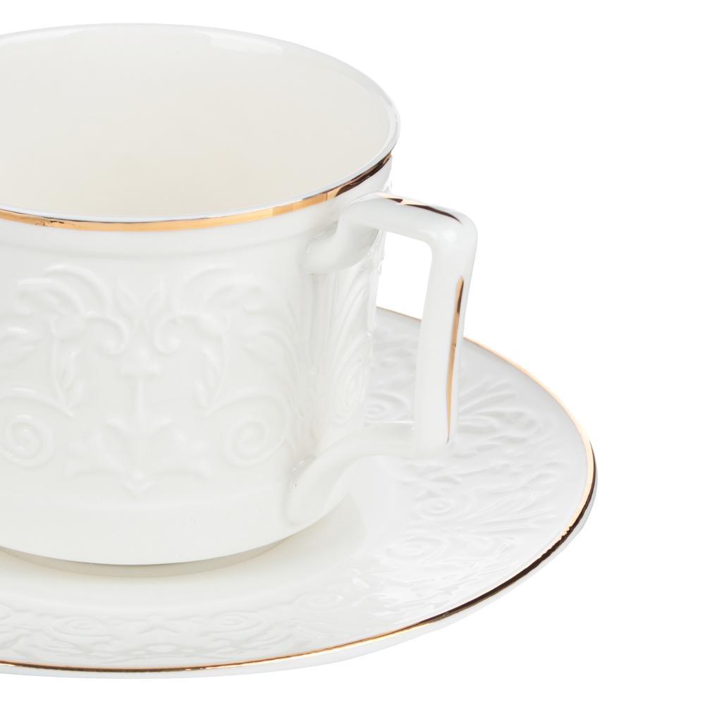 MILLIMI Да Винчи Набор чайный 14 пр., чашка 270мл, 15см, чайник 1050мл, сахарница 300мл, кост. фрф - 3