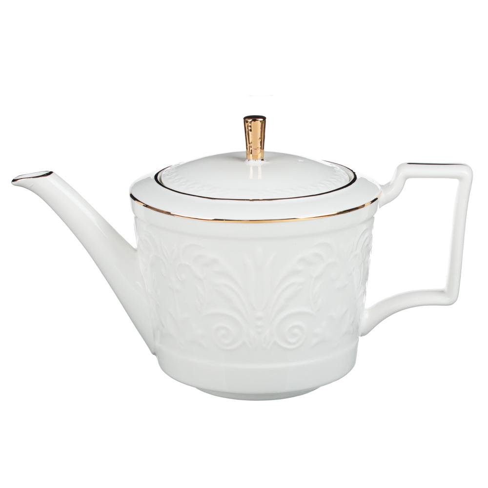 MILLIMI Да Винчи Набор чайный 14 пр., чашка 270мл, 15см, чайник 1050мл, сахарница 300мл, кост. фрф - 4