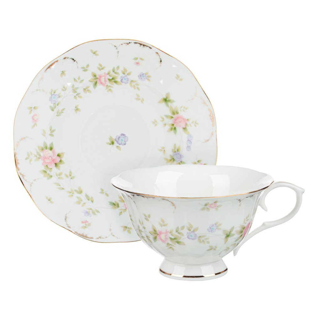 MILLIMI Вуаль Набор чайный 14 пр., чашка 240мл, 15см, чайник 1250мл, сахарница 310мл, кост. фрф - 2