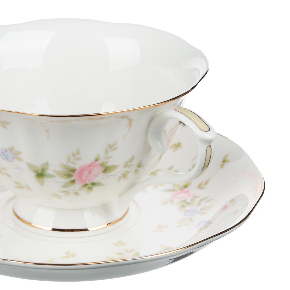 MILLIMI Вуаль Набор чайный 14 пр., чашка 240мл, 15см, чайник 1250мл, сахарница 310мл, кост. фрф - 3