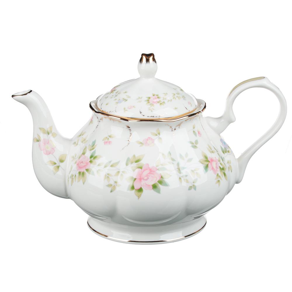 MILLIMI Вуаль Набор чайный 14 пр., чашка 240мл, 15см, чайник 1250мл, сахарница 310мл, кост. фрф - 4
