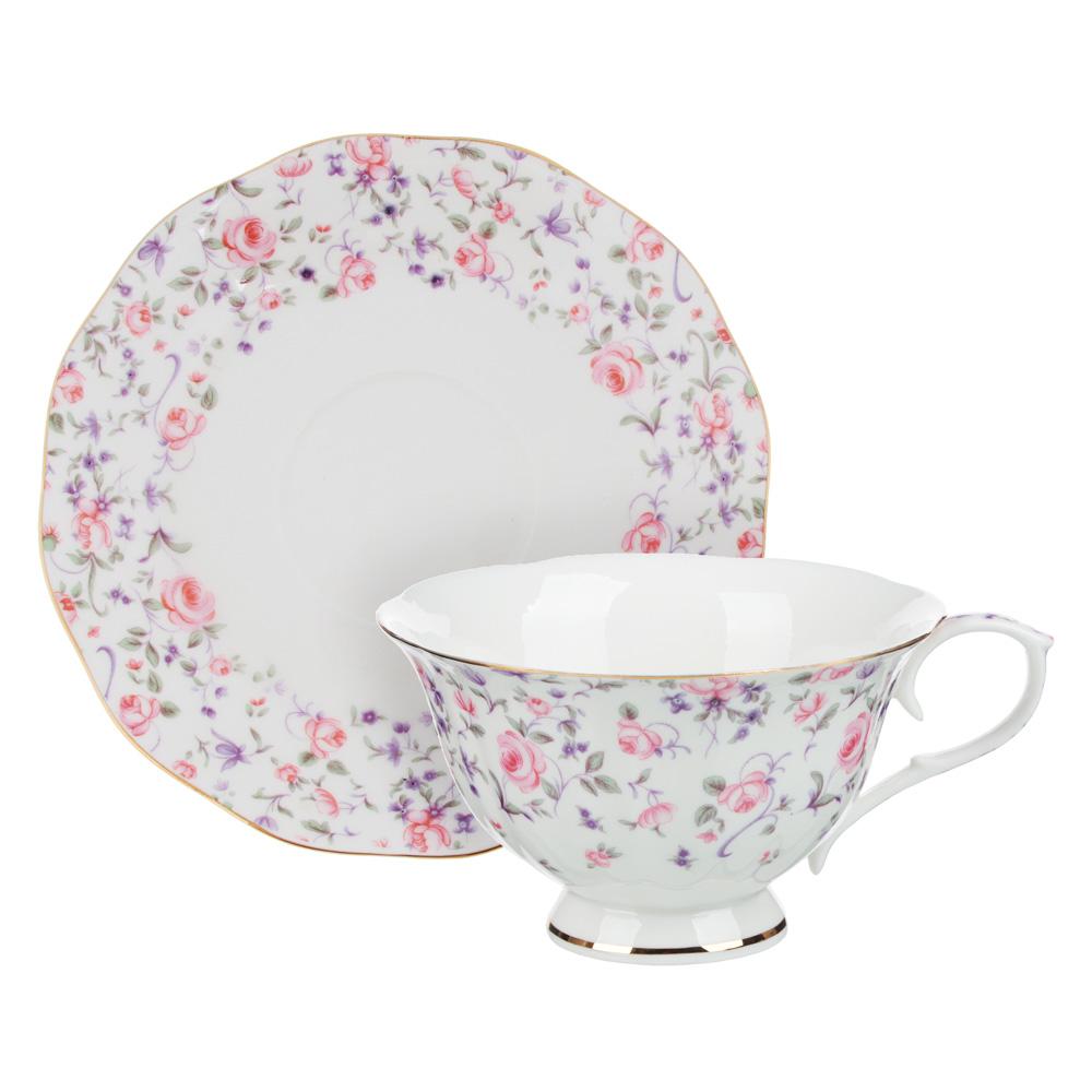 MILLIMI Грезы Набор чайный 14 пр., чашка 240мл, 15см, чайник 1250мл, сахарница 310мл, кост. фрф - 2
