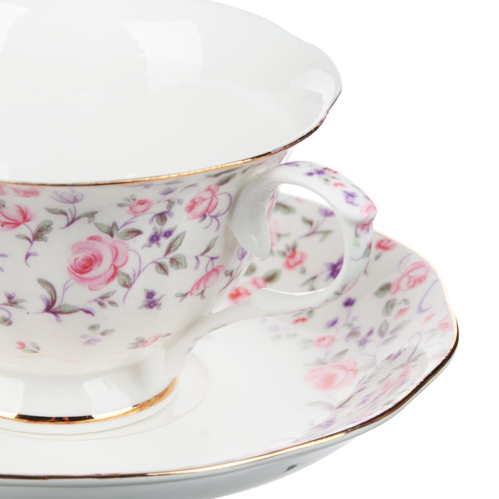 MILLIMI Грезы Набор чайный 14 пр., чашка 240мл, 15см, чайник 1250мл, сахарница 310мл, кост. фрф - 3