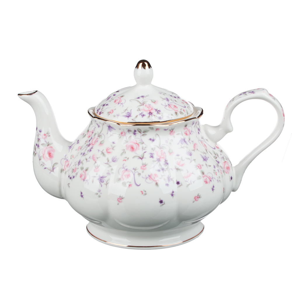 MILLIMI Грезы Набор чайный 14 пр., чашка 240мл, 15см, чайник 1250мл, сахарница 310мл, кост. фрф - 4