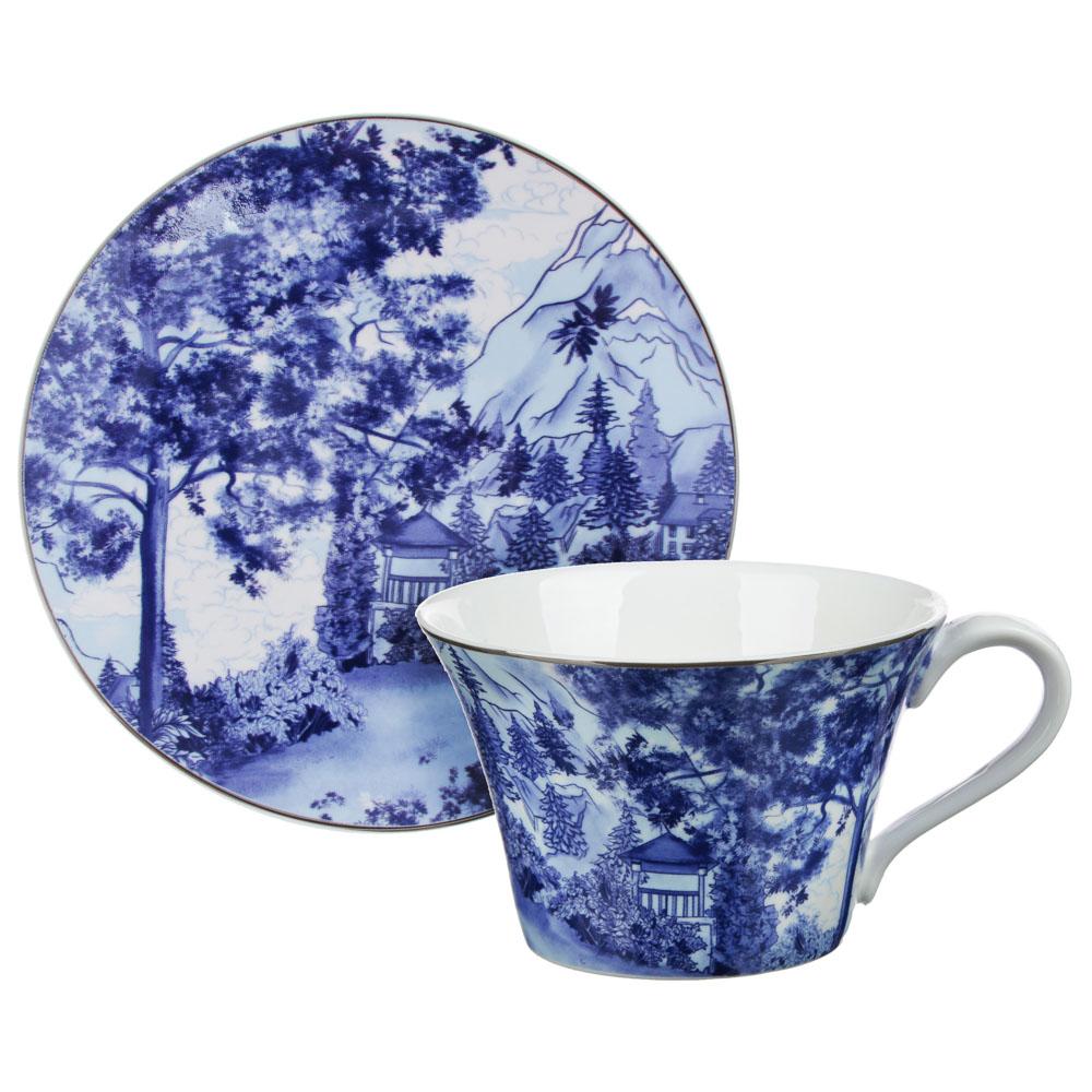 MILLIMI Дивный лес Набор чайный 14 пр., чашка 270мл, 16см, чайник 650мл, сахарница 230мл, кост. фрф - 2