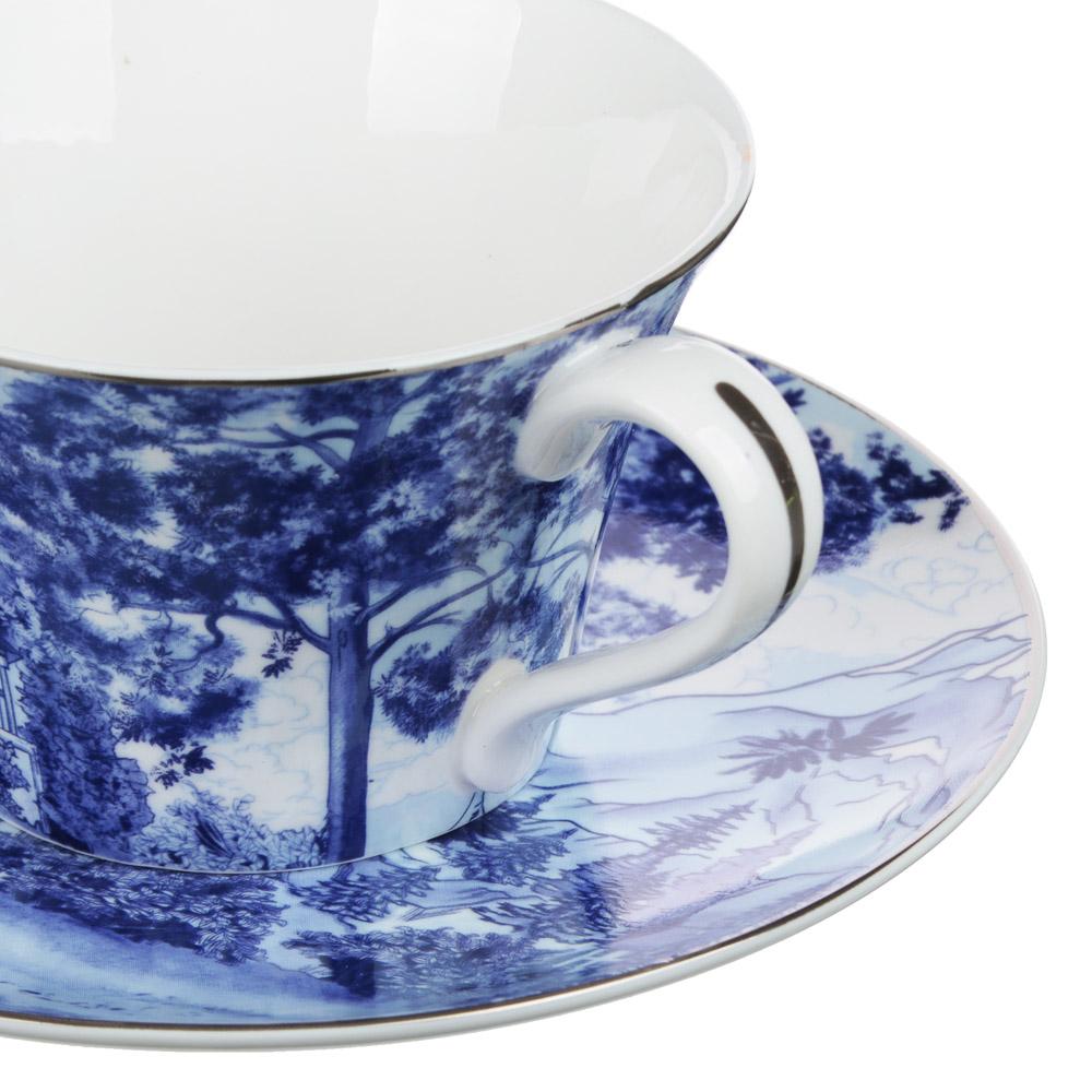 MILLIMI Дивный лес Набор чайный 14 пр., чашка 270мл, 16см, чайник 650мл, сахарница 230мл, кост. фрф - 3