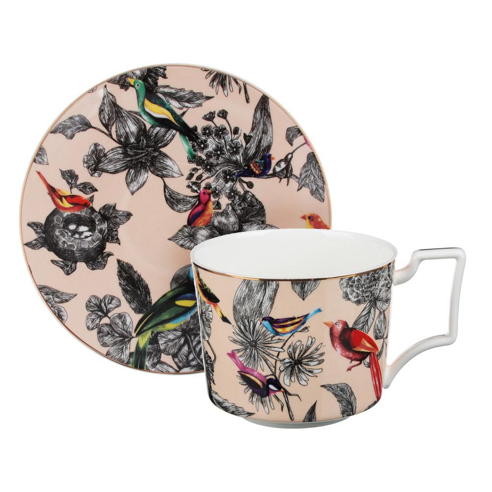 MILLIMI Очарование Набор чайный 14 пр., чашка 300мл, 15см, чайник 1200мл, сахарница 350мл, кост.фрф - 2