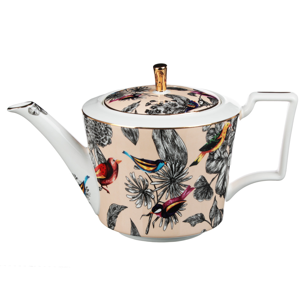 MILLIMI Очарование Набор чайный 14 пр., чашка 300мл, 15см, чайник 1200мл, сахарница 350мл, кост.фрф - 4