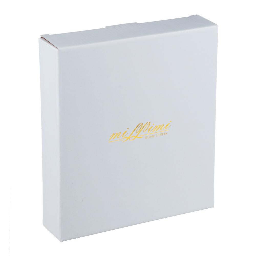 MILLIMI Очарование Конфетница с металлической ручкой, 21х3,5см, костяной фарфор - 5