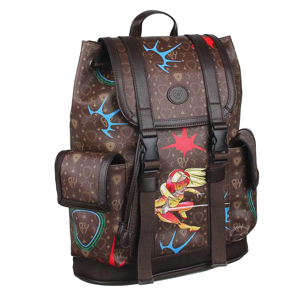Рюкзак молодежный BY «Заря», 44х34,5х12,5 см, экокожа, 1 отделение, 2 кармана - 2