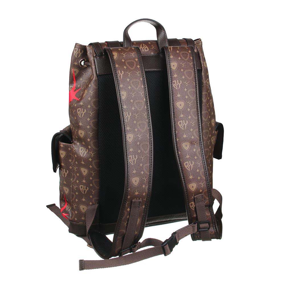 Рюкзак молодежный BY «Заря», 44х34,5х12,5 см, экокожа, 1 отделение, 2 кармана - 3