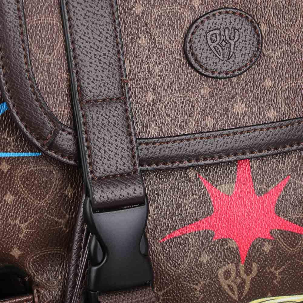 Рюкзак молодежный BY «Заря», 44х34,5х12,5 см, экокожа, 1 отделение, 2 кармана - 5