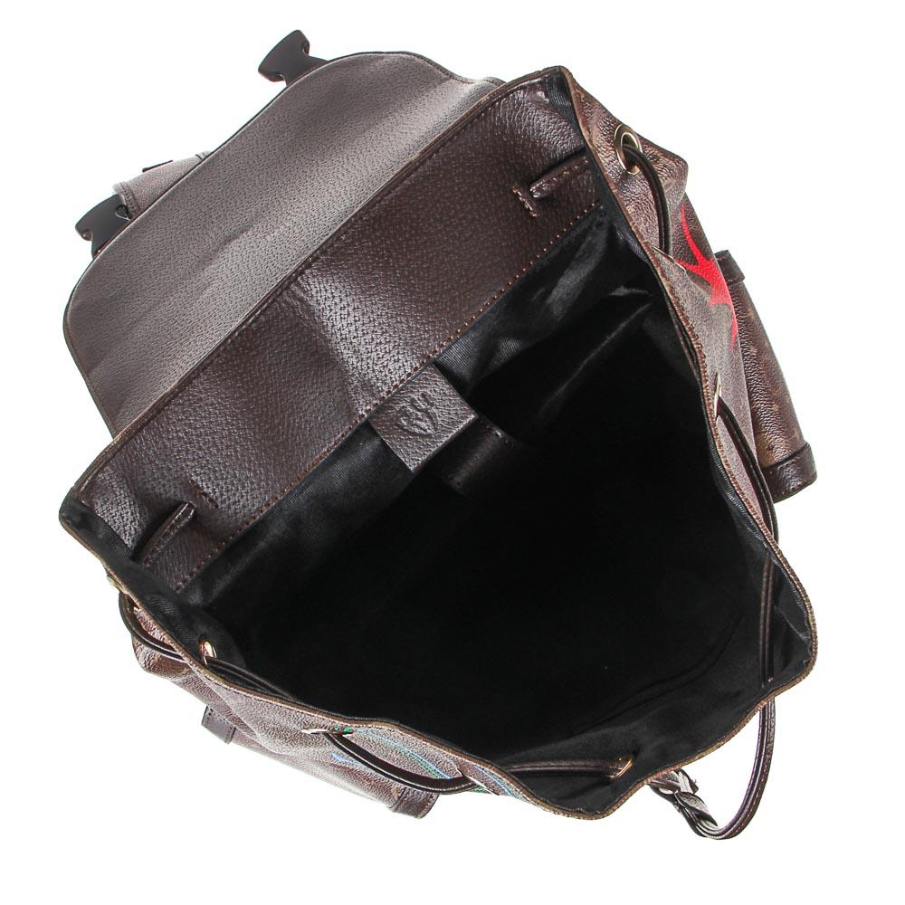 Рюкзак молодежный BY «Заря», 44х34,5х12,5 см, экокожа, 1 отделение, 2 кармана - 6