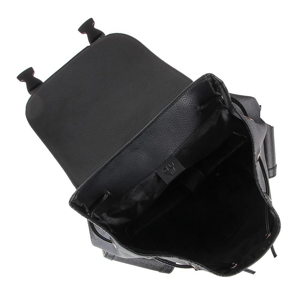 Рюкзак молодежный BY «Конек», 44х34,5х12,5 см, экокожа, 1 отделение, 2 кармана - 6
