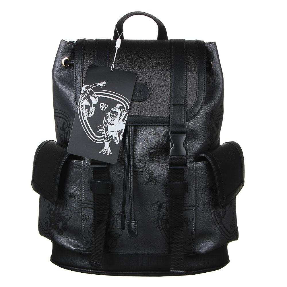 Рюкзак молодежный BY «Конек», 44х34,5х12,5 см, экокожа, 1 отделение, 2 кармана - 7
