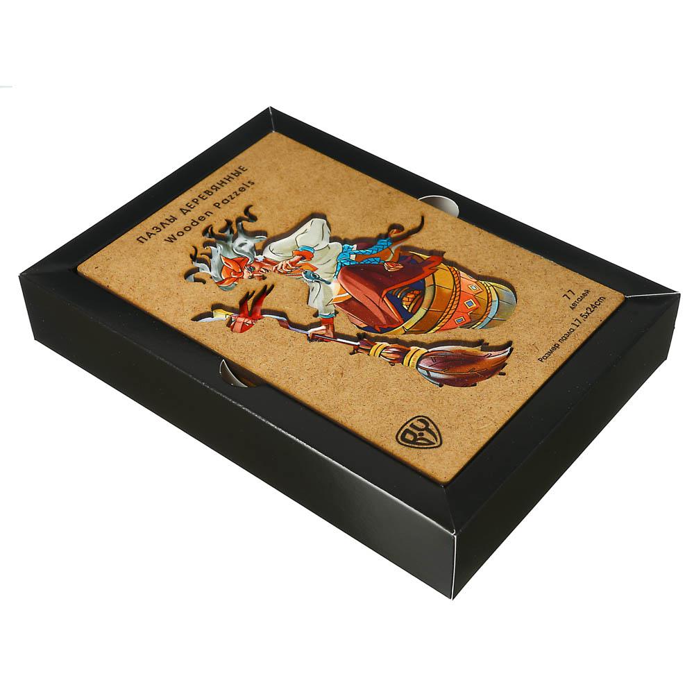 BY Пазл деревянный-игры в дорогу, 18х12х3,4см, фанера, картон, 4 дизайна - 3