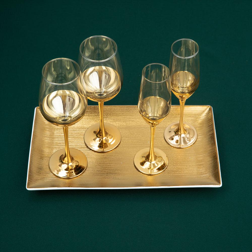 Пряничный домик Набор бокалов 2шт для шампанского, 160мл - 4