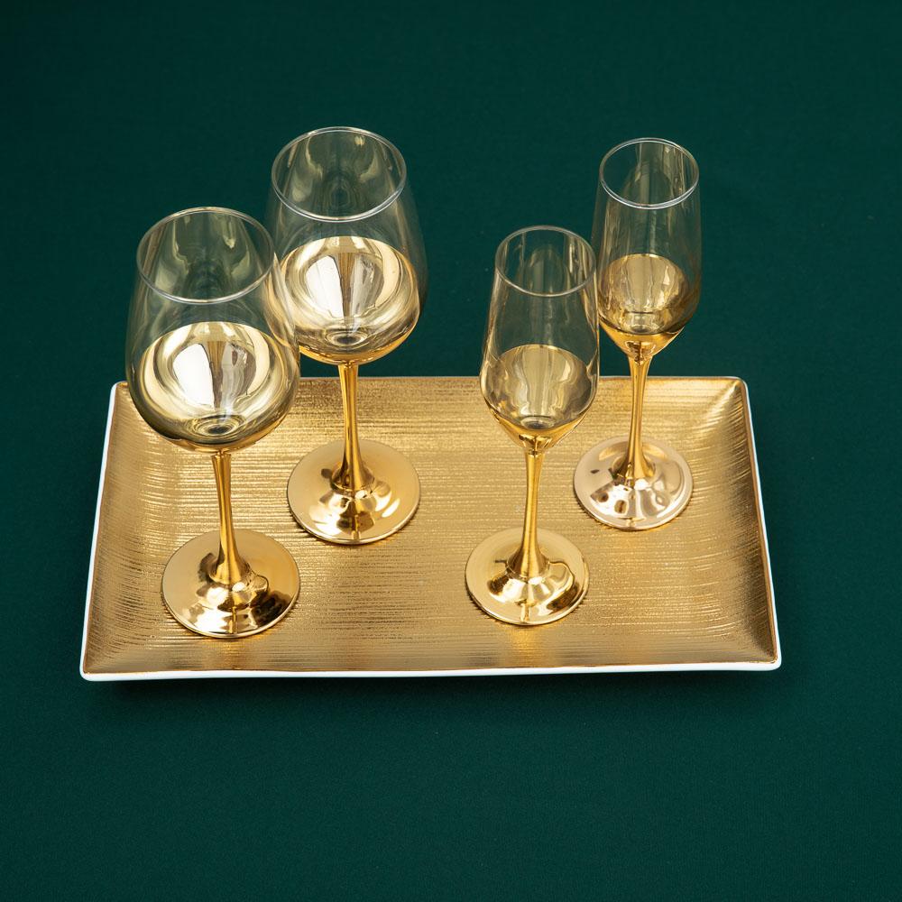 Пряничный домик Набор бокалов 2шт для вина, 350мл - 4