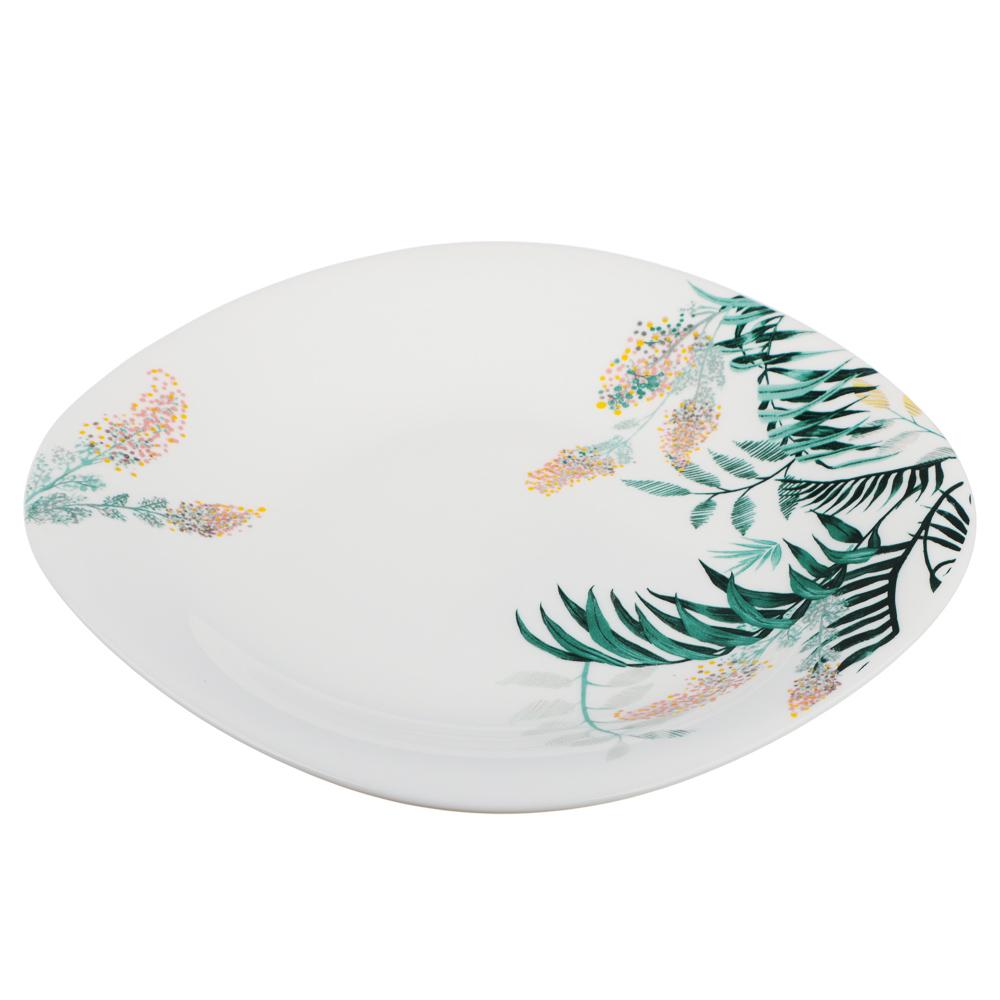 MILLIMI Тропикана Тарелка десертная опаловое стекло 21,5см, квадратная форма, 20048 - 2
