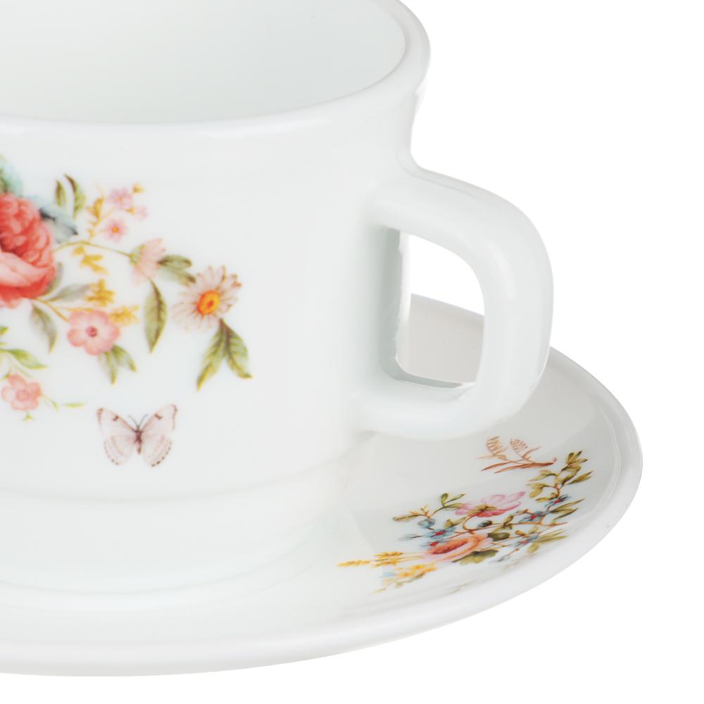 MILLIMI Дарина Чайная пара (чашка 250мл., блюдце 15см) опаловое стекло, 18136 - 2