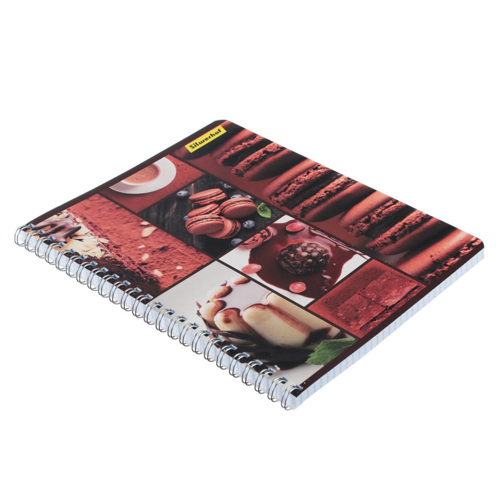"Тетрадь общая на спирали 80л. в клетку, обл.картон, офсет, ""Шоколад"", 3 дизайна, 810022-75 - 2"