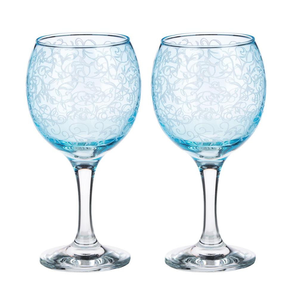 Набор бокалов 2шт для вина, 250 мл, с гравировкой, 4 цвета - 2