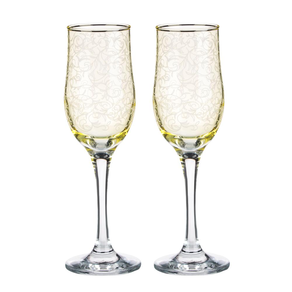 Набор бокалов 2шт для шампанского, 200 мл, с гравировкой, 4 цвета - 2