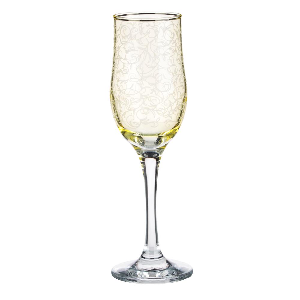 Набор бокалов 2шт для шампанского, 200 мл, с гравировкой, 4 цвета - 3
