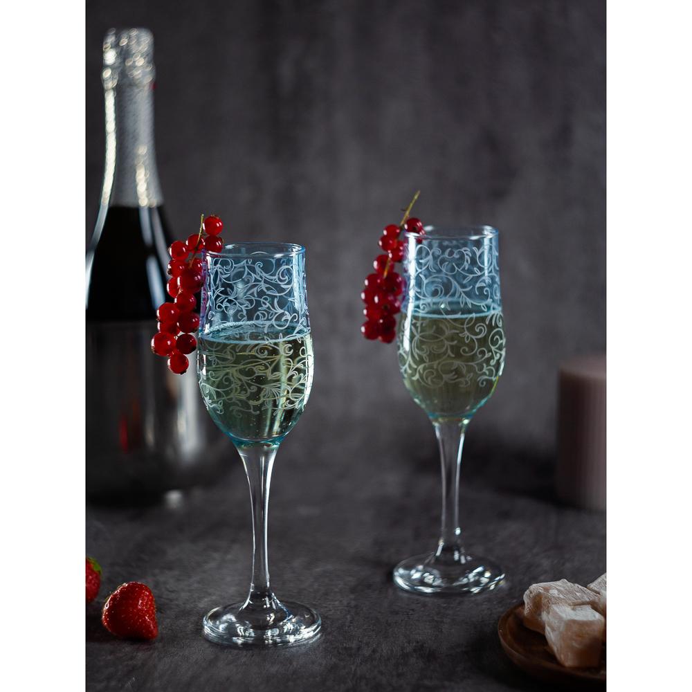 Набор бокалов 2шт для шампанского, 200 мл, с гравировкой, 4 цвета - 8