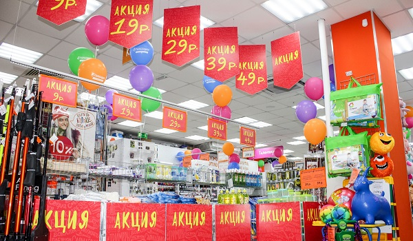 В новом красноярском магазине будут раздавать товары по рублю