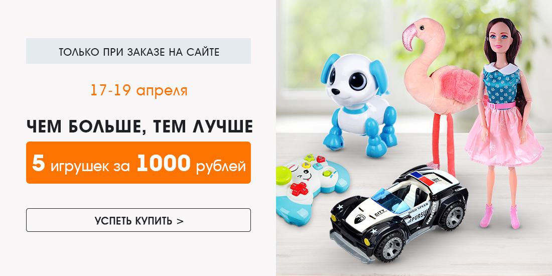 ИМ 5 игрушек за 1000 рублей